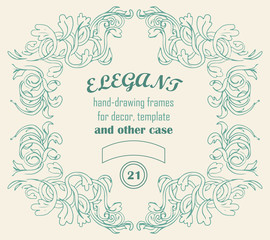Vintage vector elegant frames and decor elements with text