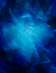 Abstract dark blue pattern with triangles. Vector graphic background