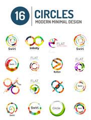 Set of various circle logos