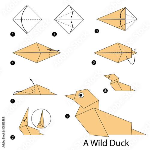 step by step origami - 736×785