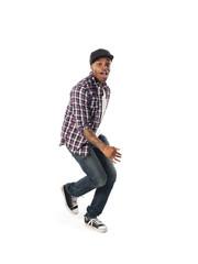dancing african american man
