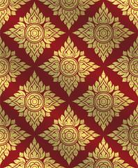 Thai art pattern,Traditional Thai background,line Thai vector