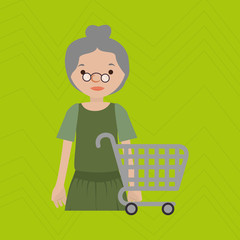 grandmother shopping design