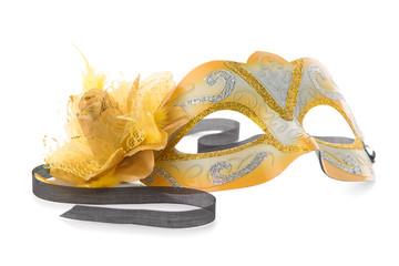 Yellow venetian mask