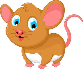 funny fat mouse cartoon posing