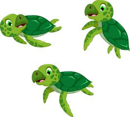 funny tree turtle cartoon