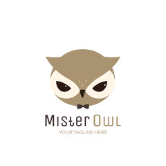 Owl Vector Logo Template