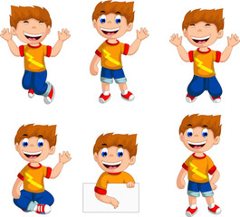 funny six boy cartoon