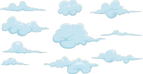collection of cloud cartoon