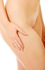 Beautiful slim naked female body