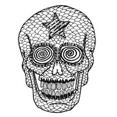 Hand draw skull.