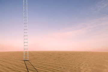 Composite image of ladder