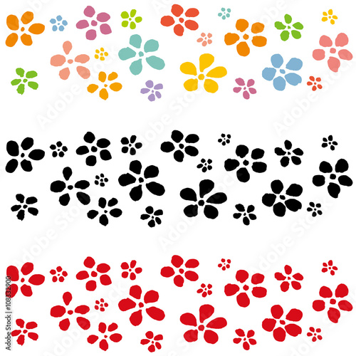 和花 和風ライン 手書きイラストfotoliacom の ストック画像と