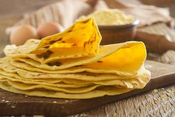 Homemade tortilla