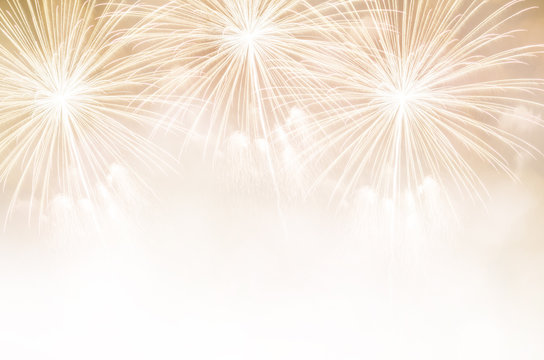 Fireworks and copy space. Abstract background holiday.