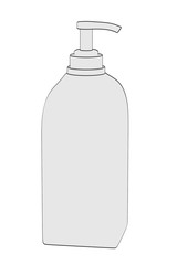 2d cartoon illustration of lotion