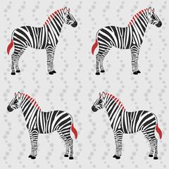 Zebra pattern with flower stripes