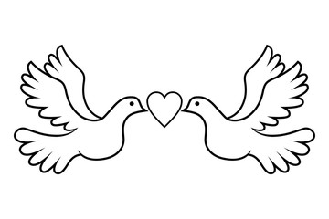 Wedding Dove Love Black