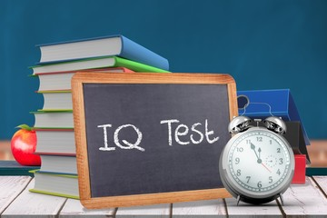 Composite image of word iq test