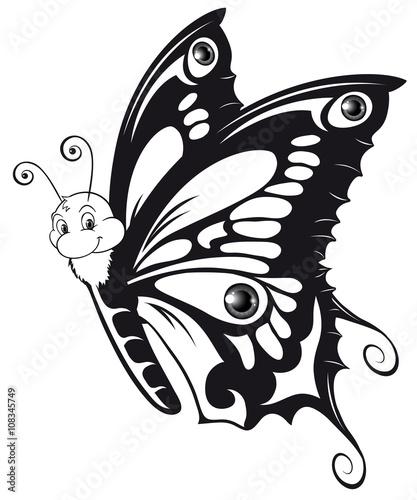Ausmalbild Schmetterling Outlines Butterfly\
