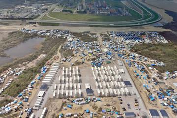 camp de réfugiés vue du ciel (Calais)