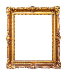Beautiful vintage golden ornamental frame for paintings