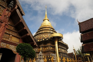Wat Phra That Lampang Luang, Lanna-style Buddhist temple in Lampang in Lampang Province, Thailand.