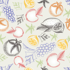 Colorful Fruity Seamless Pattern