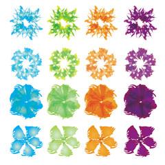 Set of watercolor flower in EPS 10 format