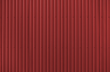 Texture of red metal roofing