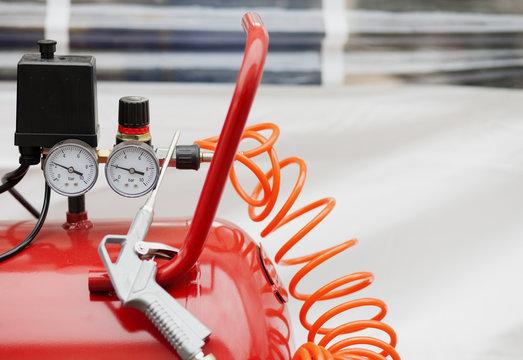 Air compressor system: manometer