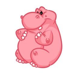 Hippo cartoon illustration animal character