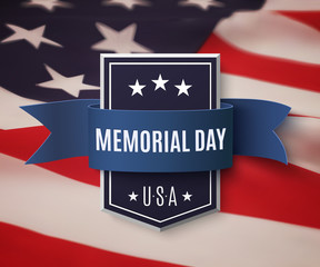 Memorial Day background template.