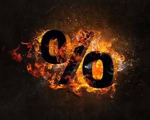 Fire percentage symbol