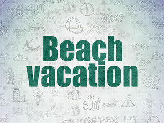 Vacation concept: Beach Vacation on Digital Paper background