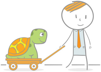 Businessman & Turtle
