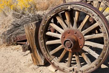Old Wagon Wheel in the California Desert