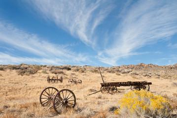 Old Wagon in the California Desert