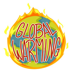 Vector Illustration of Global Warming Concept