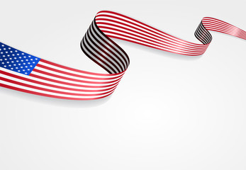 USA flag background. Vector illustration.