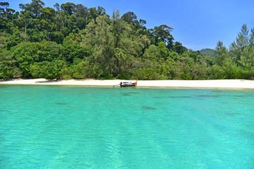 A long tail boat at Adang island (Koh Adang)