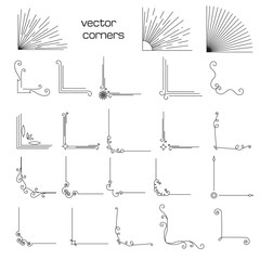 set of vintage elements corners