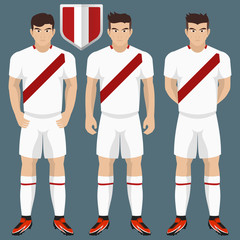 Peru National Soccer / Football Team Kit for American Competition