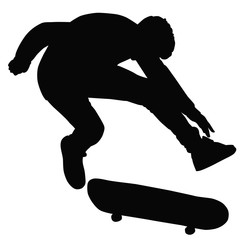 Teenager ride on a skateboard