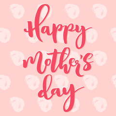 Happy mother's day pink greeting card.