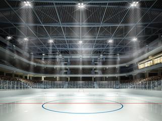 Eishockeyhalle Mittellinie