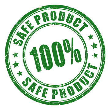 100 safe product stamp