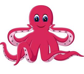 illustration of cute octopus cartoon