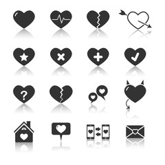 Hearts icons,Vector EPS10.