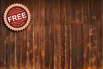 sale new free on wooden background